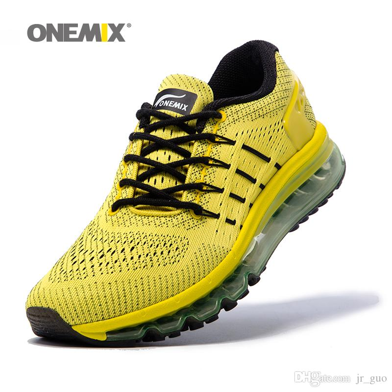 innovative design 51b09 79c11 2019 ONEMIX Mens Running Shoes For Men Unique Shoe Tongue Athletic Trainers Tennis  Sports Shoe Air Cushion Shox Sole Outdoor Walking Gym Sneakers From ...