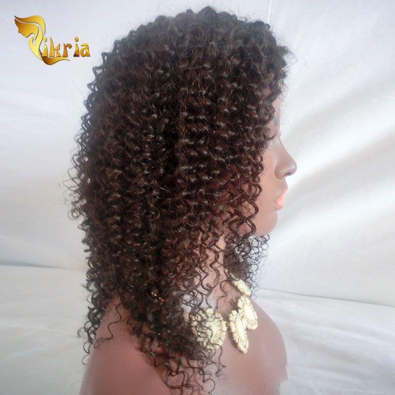 Brésilienne Avant de Cheveux de Cheveux Humains Perruques Malaysian Péruvienne Vierge De Cheveux Humains Pleine Dentelle Perruque Kinky Bouclés Cheveux Humains De Dentelle Perruques Pour Les Femmes Noires