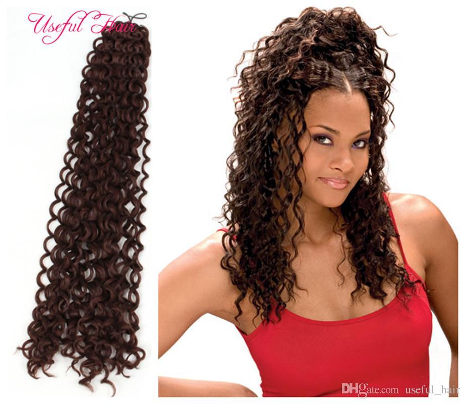 20inch Freetress Crochet Hair Extensions Water Wave Bulk