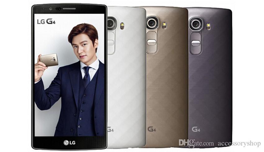 Refurbished Original LG G4 H815 H811 H810 5.5 inch Android 5.1 Hexa Core 3GB RAM 32GB ROM 16MP 4G LTE Unlocked Mobile Phone DHL