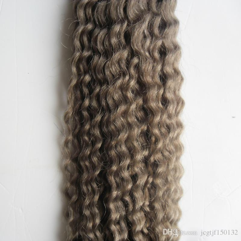 T1B/Gray ombre grey hair weave mongolian kinky curly hair grey curly bundles 100g grey kinky weave hair double weftno tangle free