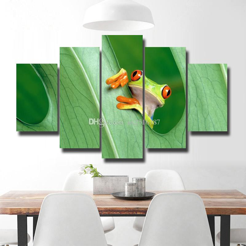 Enmarcado 5 paneles Impresión de la lona Pintura Moderna Lienzo Arte ...