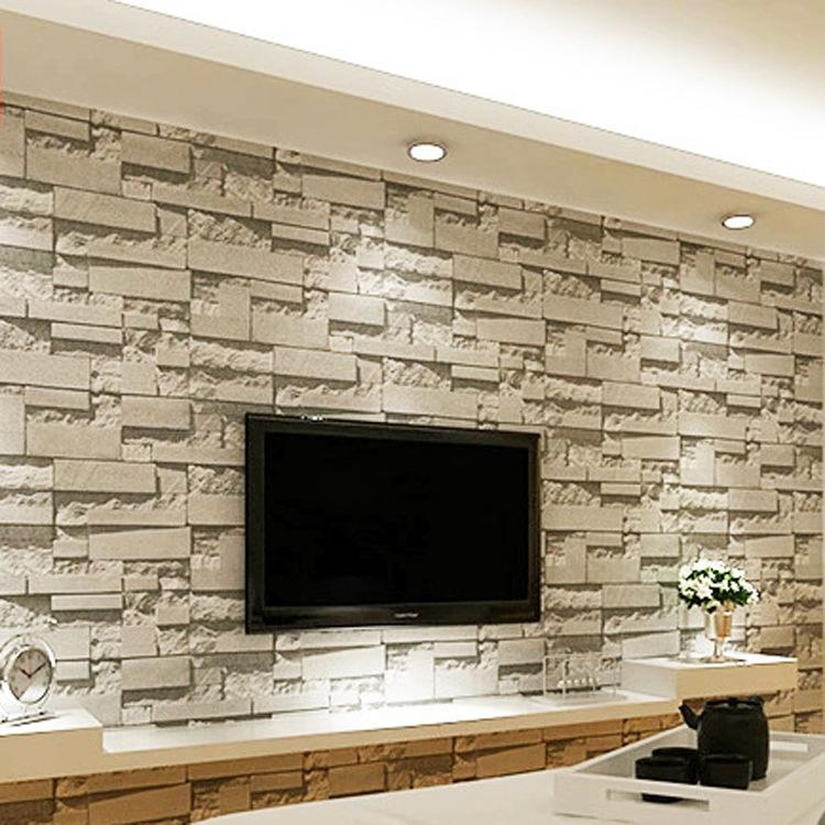 Stone Wallpaper 3d Stereo Tv Background Wall Paper Stereo Imitation