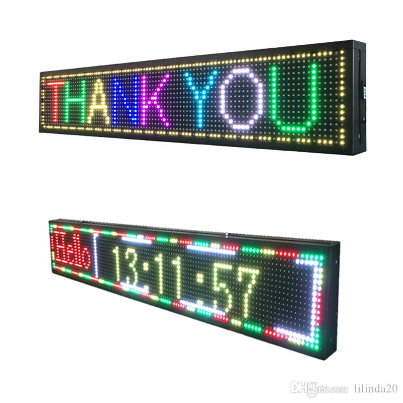 p10 outdoor led display usb programmable full color text running
