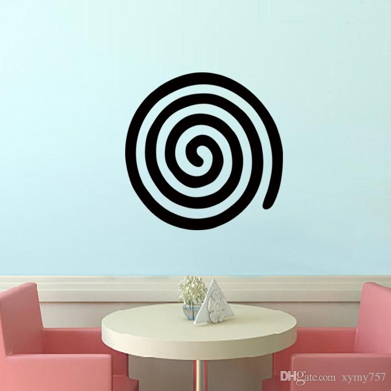 Hot Sale Team Logo Spiral Vinyl Wall Sticker Decal Art Deco Mural - Locations where sell wall decals