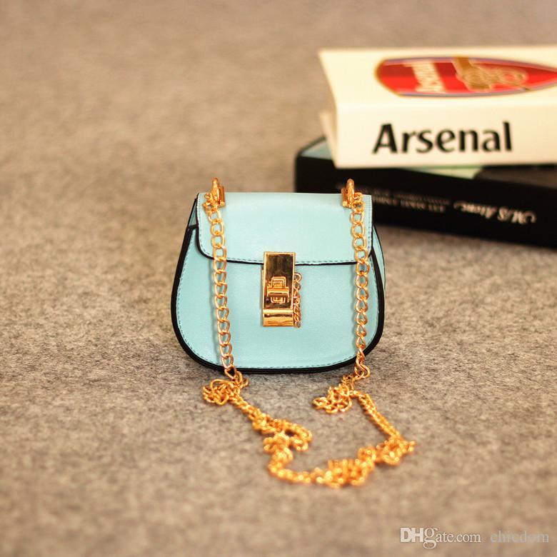 New Fashion Kids Chain Messenger Bag Stylish Baby Girl Shoulder Handbag Toddler Purse Girls Mini Candy Color Bag kids messenger bags CM062