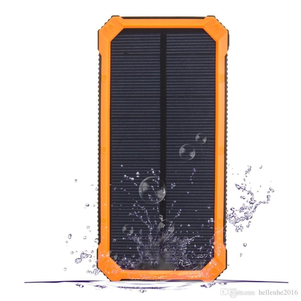 새로운 옥외 태양 에너지 은행 20000 mah 이동할 수있는 powerbank 보편적 인 휴대용 태양 충전기 LED 빛 태양 전지