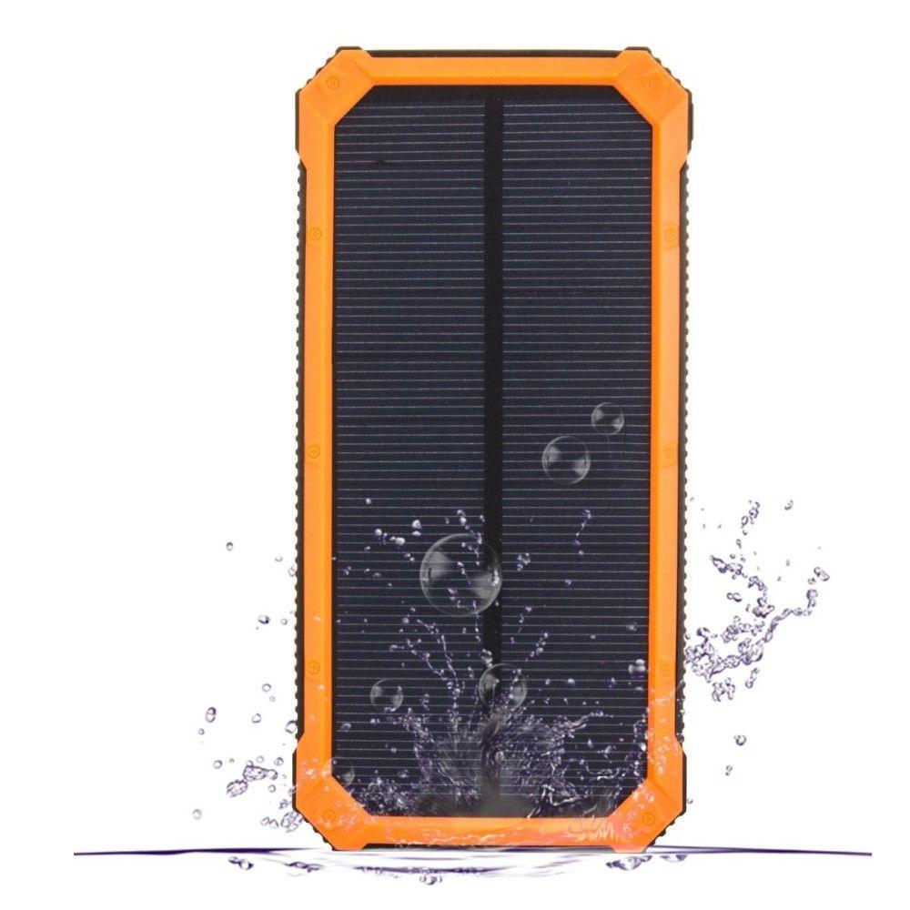جديد في الهواء الطلق مصرف الطاقة الشمسية 20000 ماه powerbank المحمول العالمي شاحن للطاقة الشمسية الصمام ضوء البطارية الشمسية