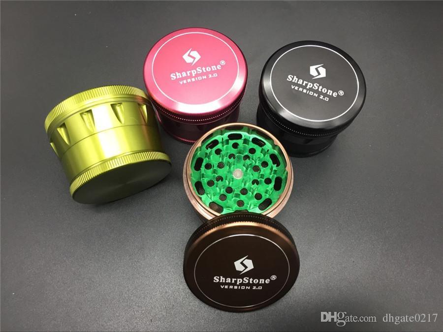 EN kaliteli CNC Alüminyum SharpStone Öğütücü Sürüm 2.0 ot değirmeni sigara dedektörü Alüminyum Alaşım Kazıyıcı Ile hardtop sigara değirmeni