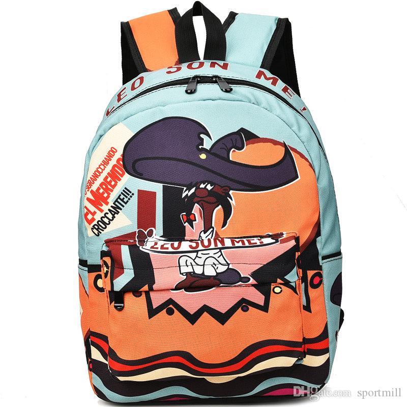 Leo Sun Me Backpack Croccante Rock School Bag Cartoon Daypack Punk Schoolbag  Outdoor Rucksack Sport Day Pack Punk Backpack Punk Rucksack Punk Day Pack  ... c2257a96a7