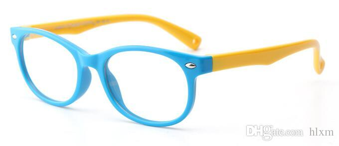 2018 The New Children\'S Glass Frame Silicone Material Frames ...