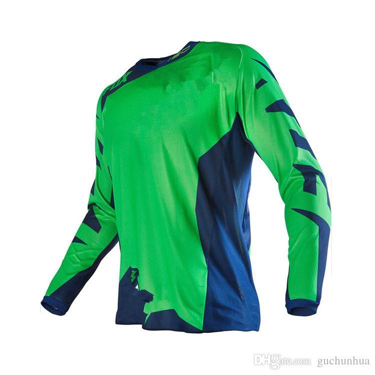 Set da gara Motocross DH Downhill MX MTB Maglietta da moto traspirante da motociclista Maglietta da donna manica lunga Off-Road Jersey da corsa