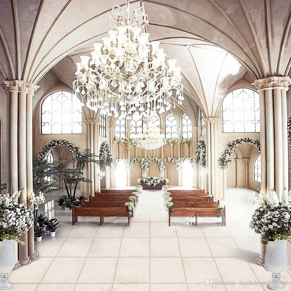 Vinyl Cloth Wedding Photography Backdrops Church