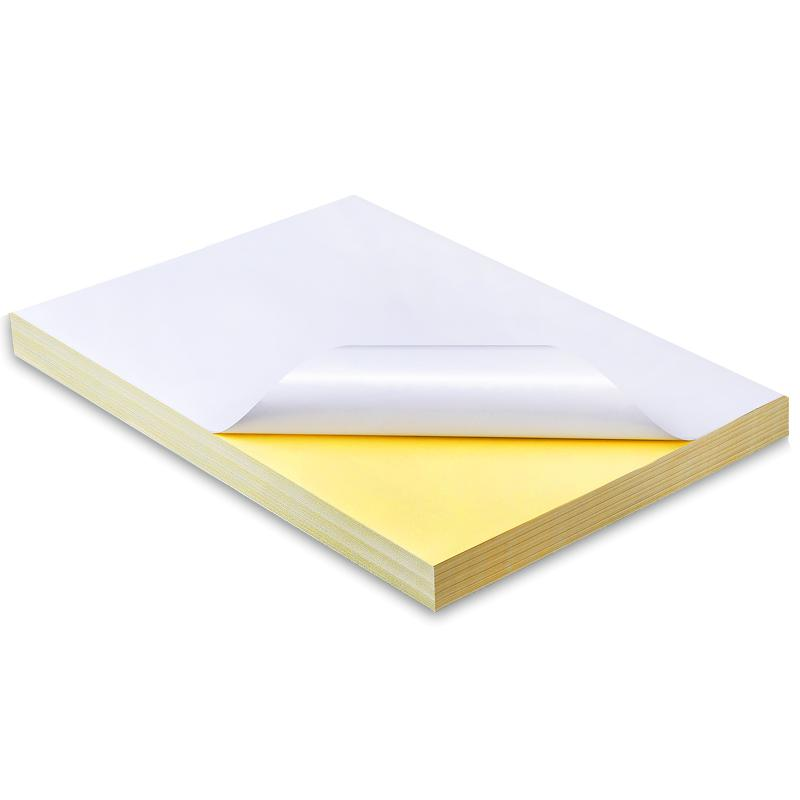 50 Sheets Good Printing Quality Waterproof Self Adhesive A4 Blank White  Vinyl Sticker Label Paper For Laser Printer