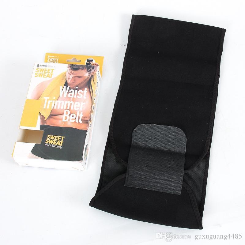 Sweat dulce trimmer de cintura superior hombres mujeres cinturón slimmer ejercicio ab cintura wrap con caja de color al por menor
