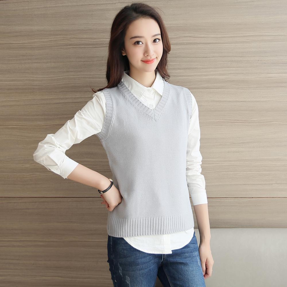2017 Wholesale 2016 Fashion Spring Autumn Female Sweater Vest ...