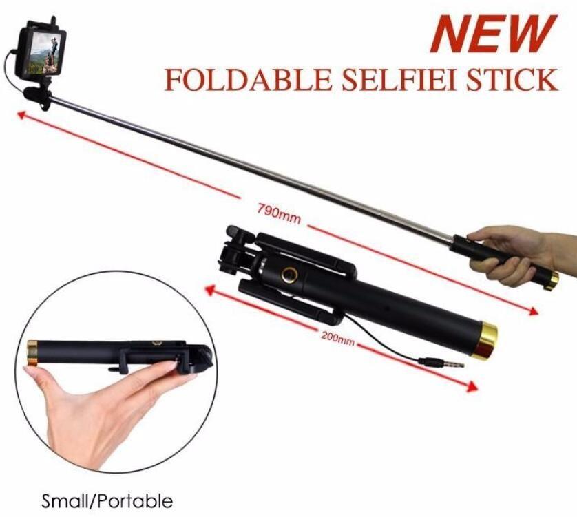 plug and play Heißer verkauf hochwertige mini verdrahtete einbeinstativ 18,5-80 cm faltbare halterung selfie stick für xiaomi / huawei / meizu / samsung / iphone