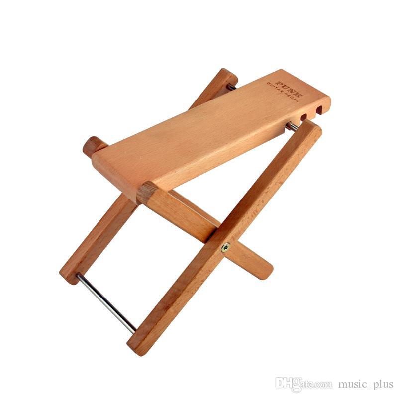Classical Guitar Wood Pedal Guitar Foot Rest Professional Folding Wood Footstool Pedal- Natural wood