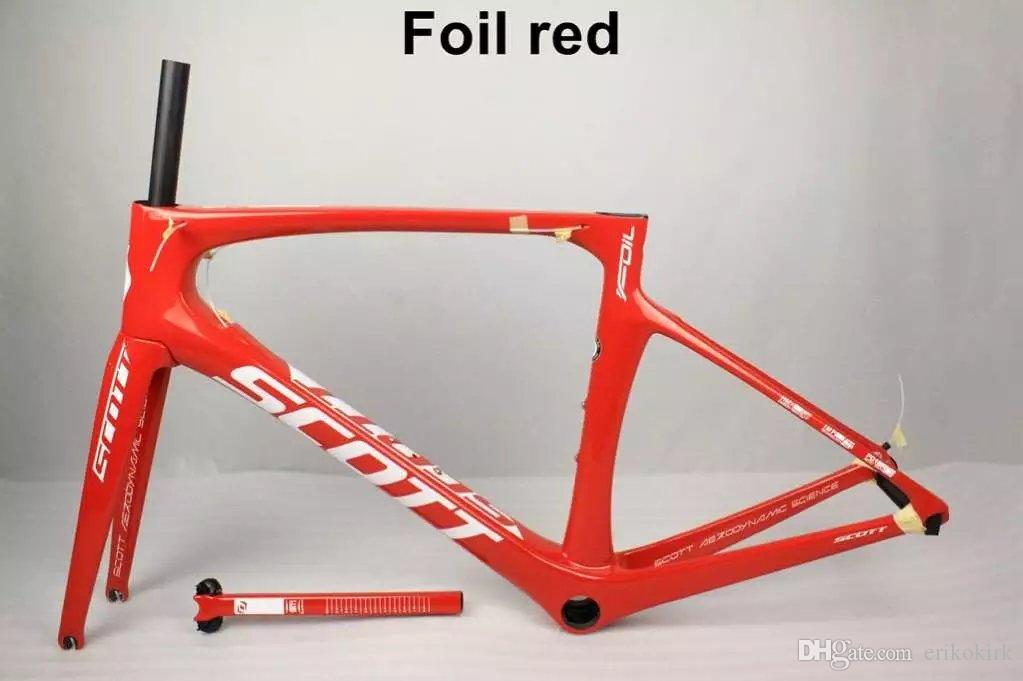 NEW All Red Foil frame carbon frameset road bike Frame carbon bicycle Black color design framset high quality