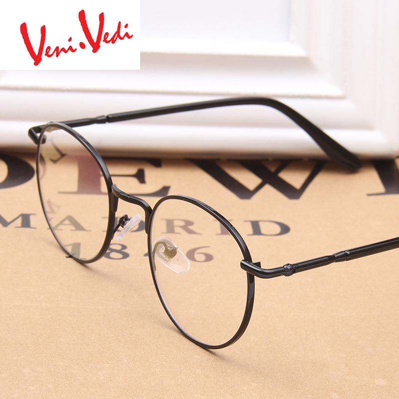 ca178f19e7 Wholesale- VENI VEDI Women s Eyeglass Optical Glasses Frame Metal ...