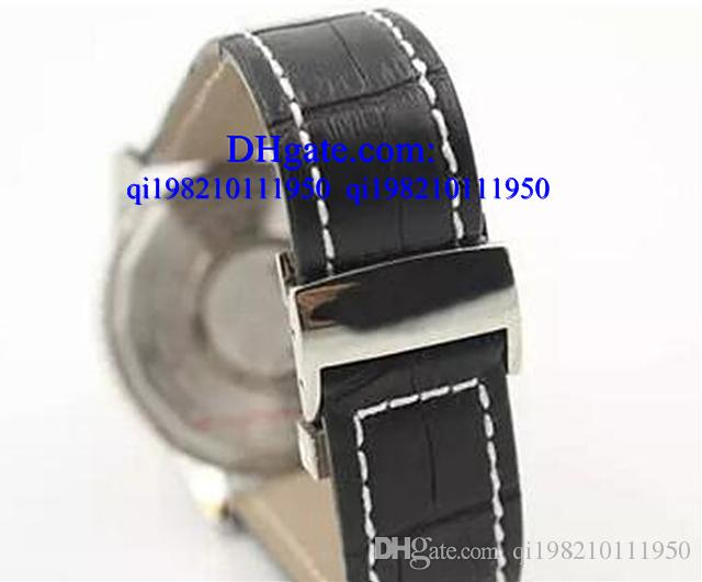 Luxury watches Free box Quartz -Watch Black Dial Fluted Case Leather Belt Fluted Case 1884 Navitimer Watch