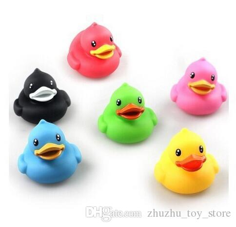 3pcs/lot Baby Bath Toys, Colorful Duck Bathroom Swimming Beach Toy, Learning & Education Model, Classic Brinquedos