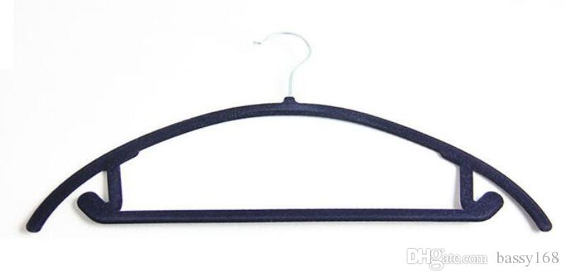 Functional 45cm ABS Velvet Hanger for Clothes Tops Scarf Ties Belts Jewelry Accessories Hats Colorful Flocking Hangers Home Office Shop Stor