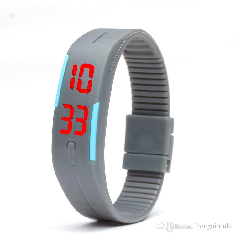 waterproof The keys Touch square dial Digital Watch Silicone Bracelet Y022701