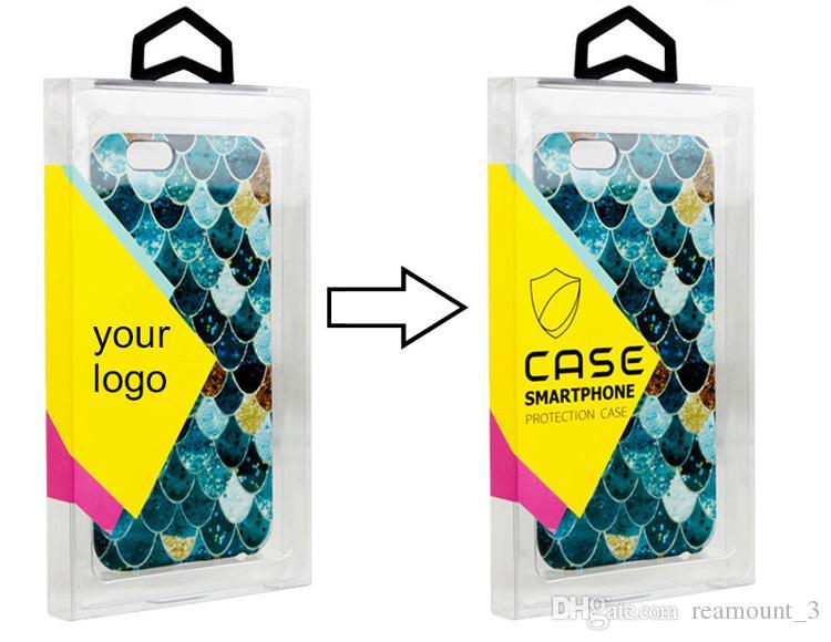 Universaleinzelhandelspapierverpackungs-Paket-Kasten für 4.7 Zoll 5.5 Zoll Handy-Fall-Abdeckung für iphone Samsung