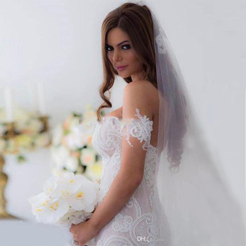 Gorgeous Arabic Lace Mermaid Wedding Dresses 2017 Off-shoulder Sweetheart detachable sleeve bridal dresses Backless Court Train Wedding Gown