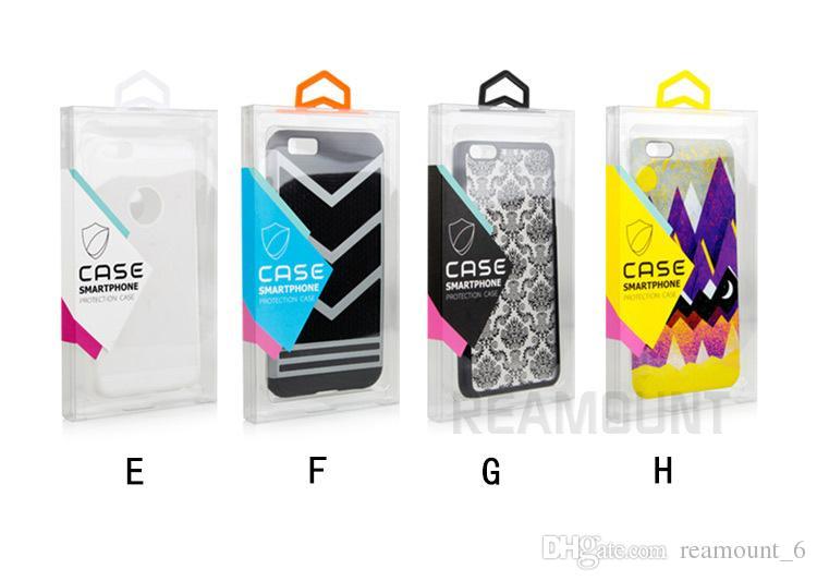 Embalagem De Embalagem De Embalagem De Cristal De PVC Pacote de Caixa De Embalagem De Cristal para o iphone samsung iphone 6 com etiqueta