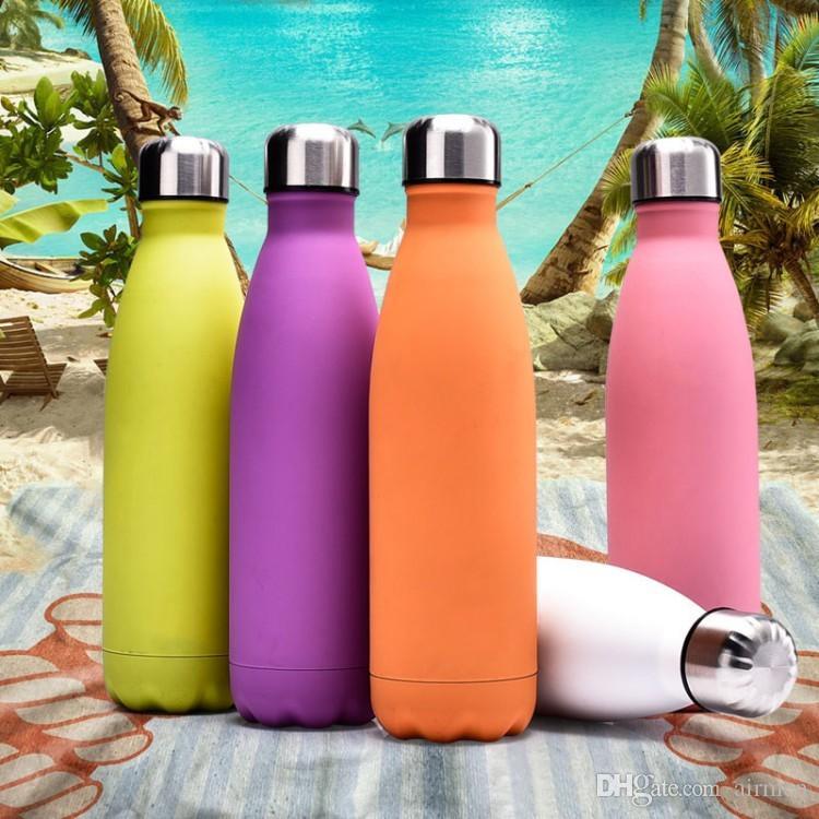 Dhl 17oz 500 ml bottiglia a forma di cola isolata doppia parete vuoto bottiglia d'acqua ad alta luminanza bottiglia creativa con tazza di coca cola i