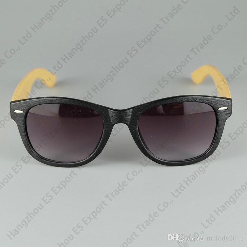 Logo Gegraveerde Beschikbare Hout Zonnebril Designer Natural Bamboo Sunglass Eyewear Bril Stijl Handgemaakte Houten Tempel Plastic Frame 8 Kleur