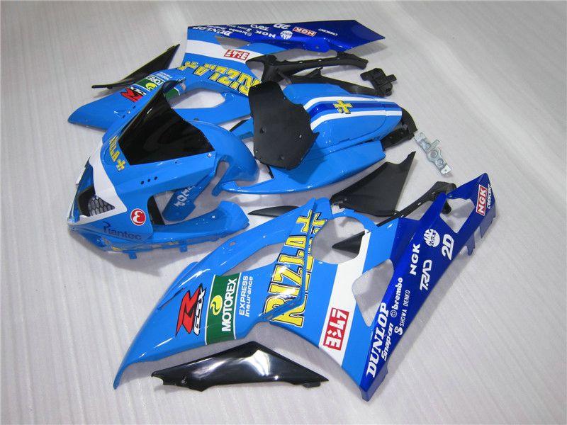 Kit de carénage sans moulage par injection gratuit pour kit de carénage pour Suzuki GSXR1000 05 06 bleu GSXR1000 2005 2006 OT21