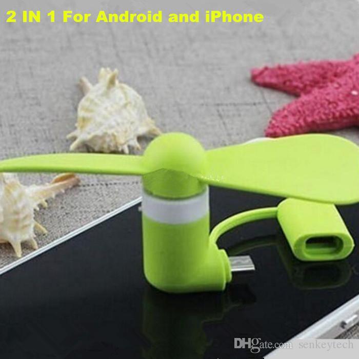 Mini USB Fan Pocket USB Gadget portátil Micro Micro USB Fan de enfriamiento para iPhone Android OTG TELÉFONOS POTERRY BANK PORTÁTULO PORTÁTIL