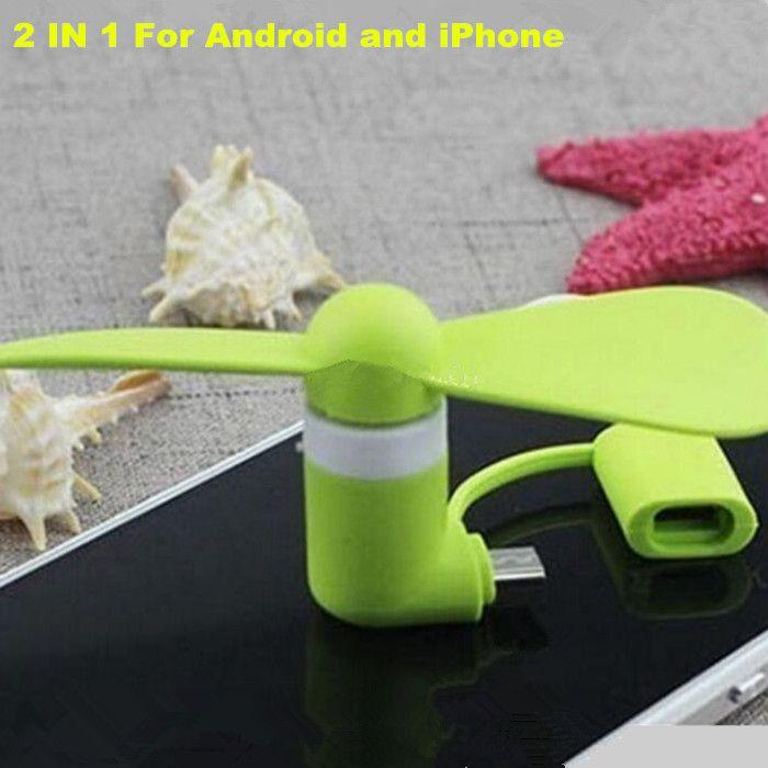 Mini USB Fan Pocket USB-Gadget Tragbare Sommer Micro USB-Kühllüfter für iPhone Android OTG-Telefone Power Bank Laptop