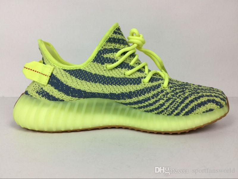 2017 SPLY 350 V2 Shoes Semi Frozen Yellow Zebra B37572 Running Shoes Grey Orange Stripes Beluga Bred Black Red  TopSportMarket
