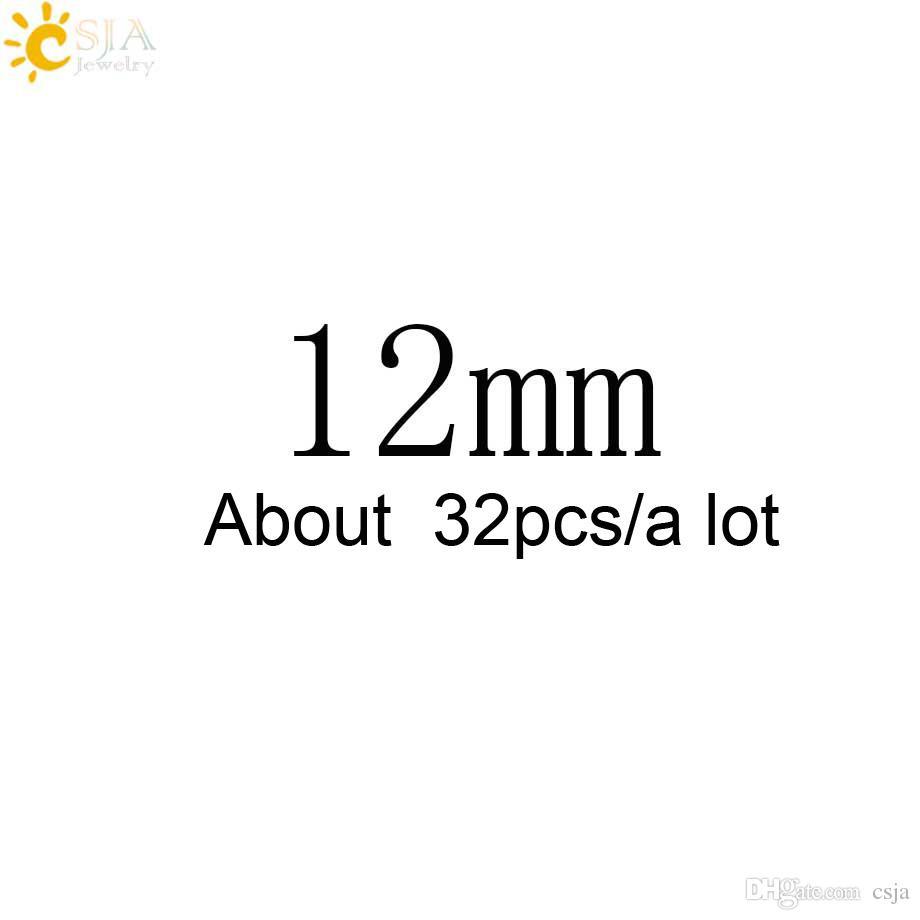 CSJA Trasporto di goccia libera 12mm Grande Rotonda Nero Lava Rock Perle di Pietra Naturale Le Donne Uomini Collane Bracciali Fare con Stringa E193 E
