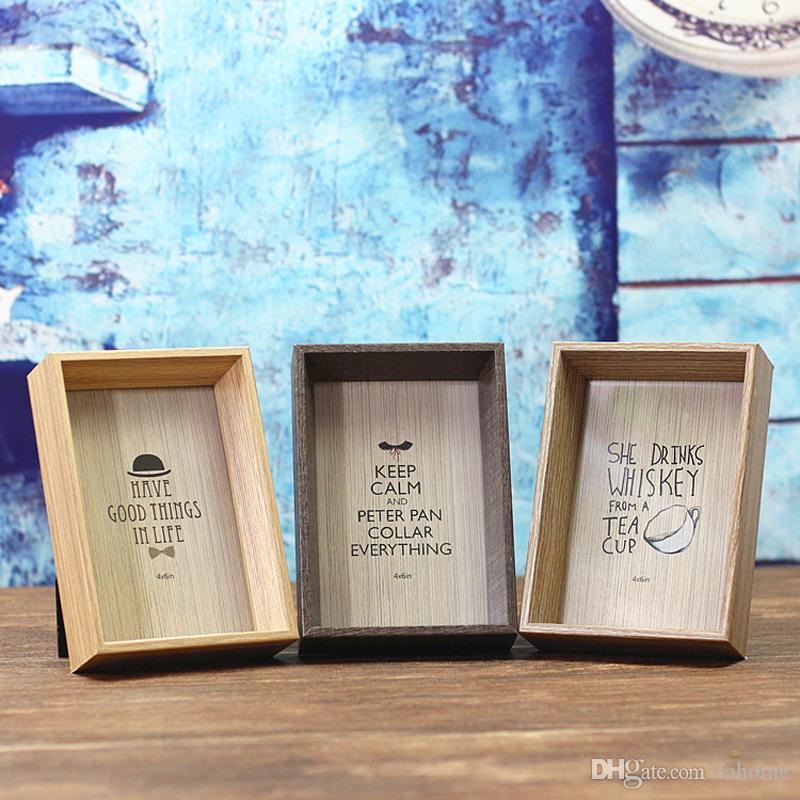 Großhandel Holz Bilderrahmen 4x6in 5x7in 6x8in Holz Holz ...