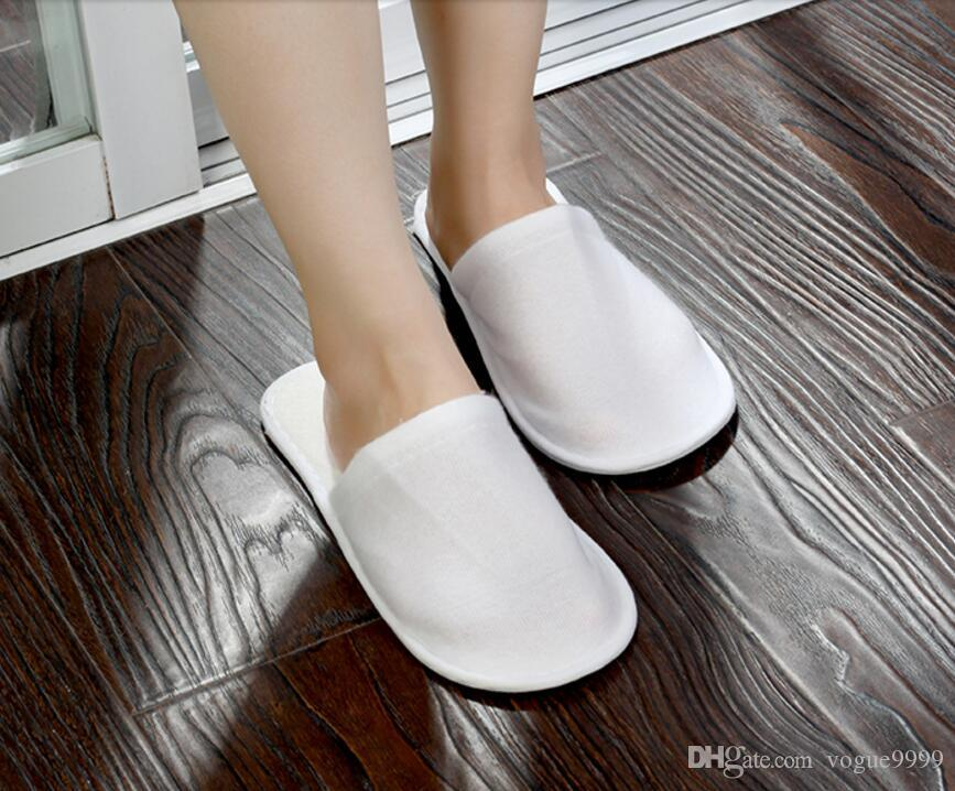 Cheapest nice quality soft one-time slippers disposable shoe home white sandals hotel babouche travel shoes