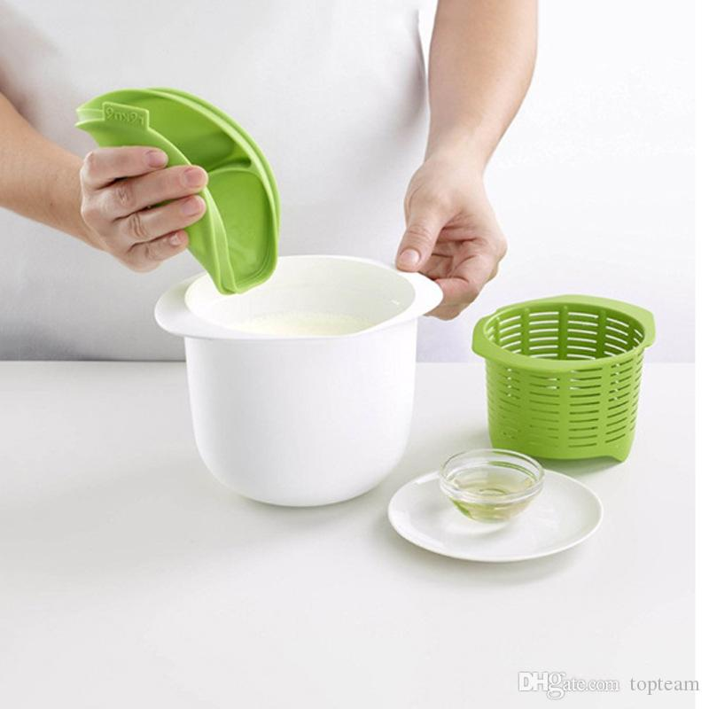 Microwave Cheese Maker Silicone Fresh Making Cheeses Machine DIY Healthy Contain Recipes Home Cooking Pastry Pie Tool