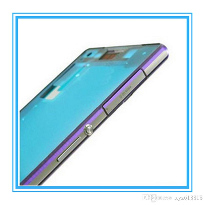 Original High Quality LCD Front Housing Frame Bezel Plate For Sony Xperia Z2 L50W D6503 Front Middle Chassis Housing frame White Black Purpl