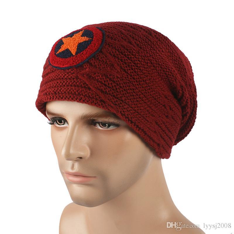 Winter Casual Cotton Knit Hats For Women Men Baggy Beanie Hat Crochet Slouchy Oversized Ski Cap Warm Outdoor Ski Skull Caps