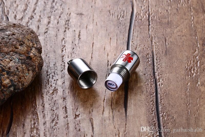Colliers pour hommes Pilules ouvertes en acier inoxydable Pulls d'alerte médicale Pendentif Colliers Collier Crémaison Orn Mode Bijoux de mode Kolye PN-685