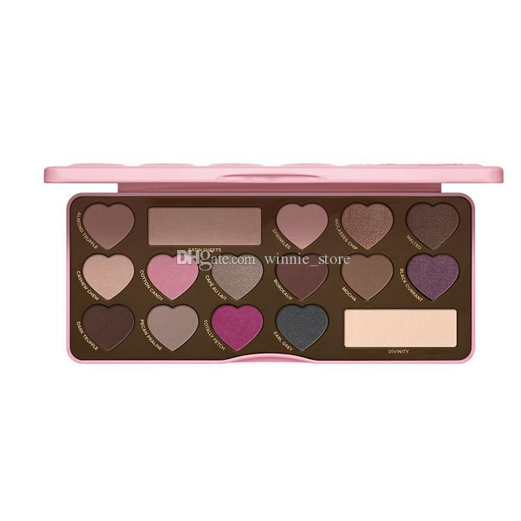 High quality Faced Makeup Sweet peach Eyeshadow Clover Palette bons Semi-sweet Chocolate Gold Shimmer Matte Eye shadow Palette