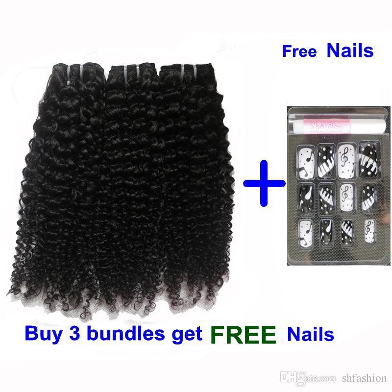 Human Hair Wefts Kinky Curly Cambodian Brazilian Curly Hair Bundles