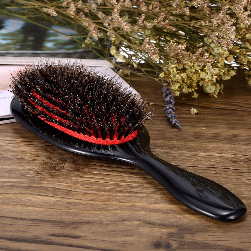 ABS Poignée Sanglier Nylon Brosse À Cheveux Anti-statique Ovale Cheveux Cuir Chevelu Massage Peigne Brosse À Cheveux Salon Peigne À Cheveux Styling Outils