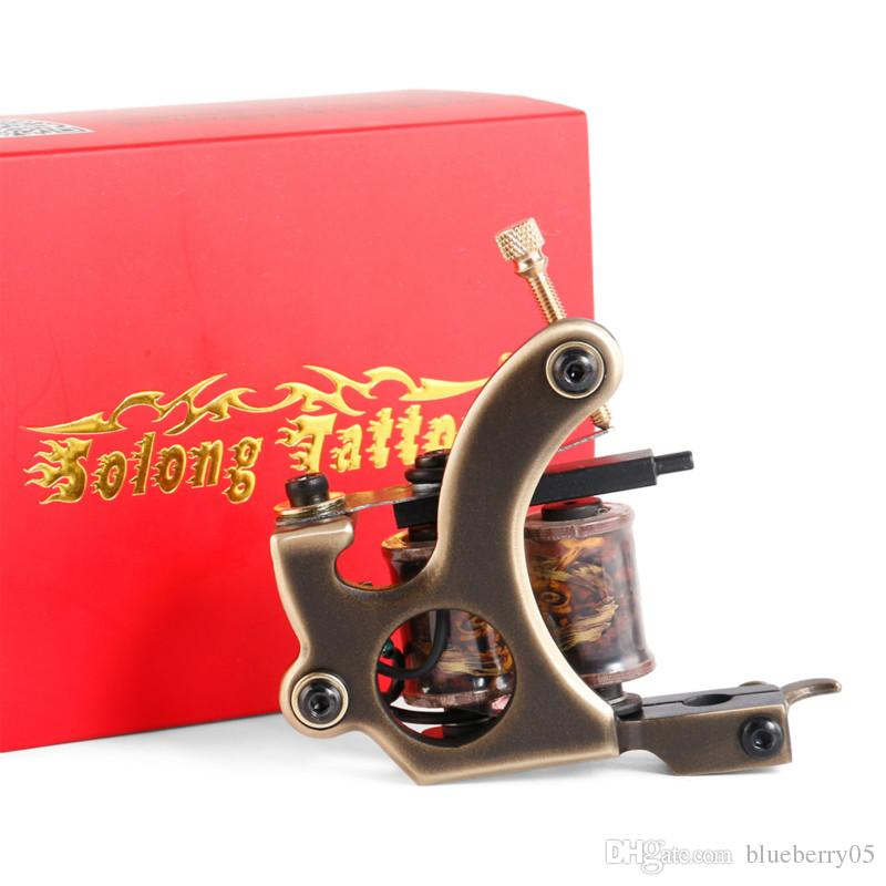 Handmade 12 Wraps Shader Liner Tattoo Copper Coils Tattoo Machine Permanent makeup for Machine free shopping