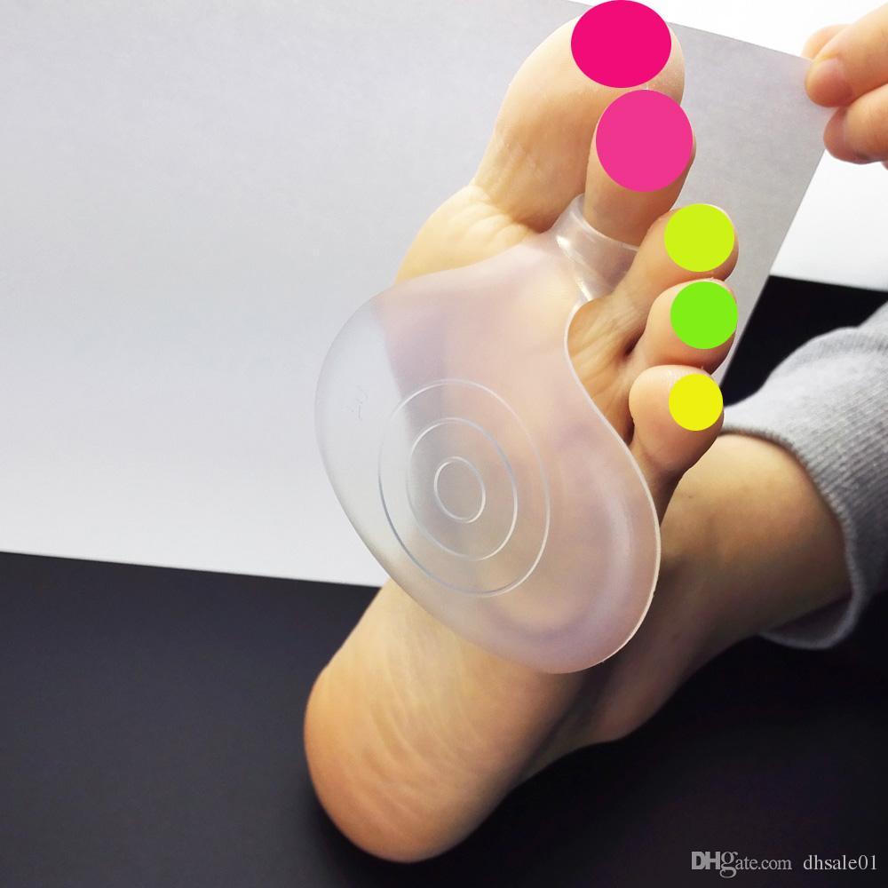 Palmilhas metatarsais do apoio do antebraço do dedo do pé da bola das almofadas do silicone /