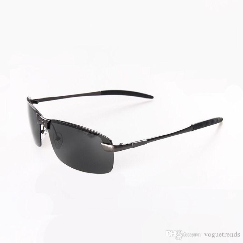 Rimless Sport Polarized Frameless Sunglasses For Men